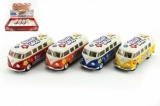 Kinsmart model VW Classical Bus Hippie kov 13cm