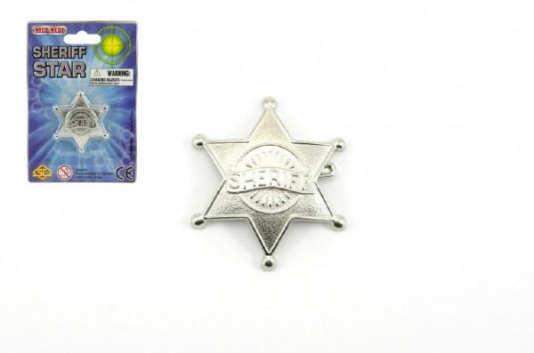 Šerifská hvězda odznak kov 6cm