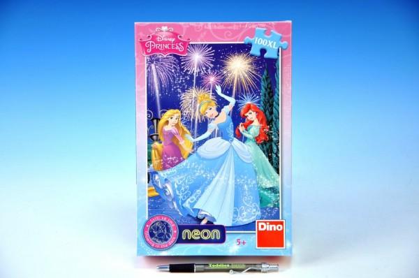 Puzzle Princezny svítící ve tmě 100dílků