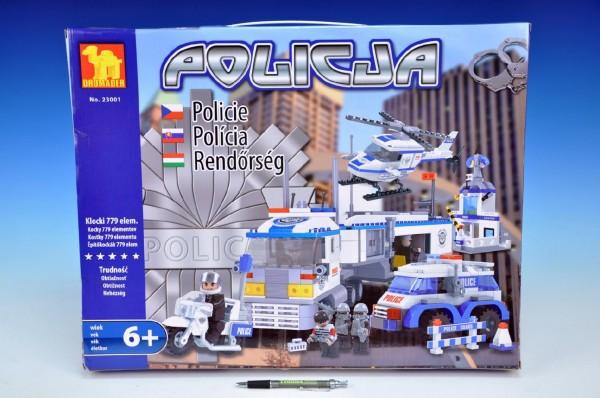 Dromader - Policie Auto+Vrtulník+Stanice 23001