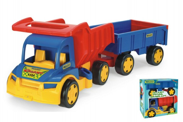 Wader Auto plast nákladní Gigant Truck s vlečkou 55 cm