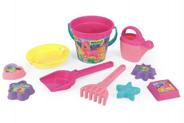 Sada hraček na písek Wader 10ks pro dívky