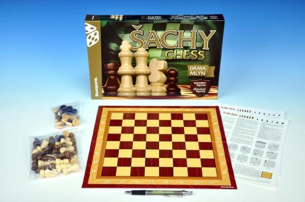 Šachy + dáma + mlýn Bonaparte