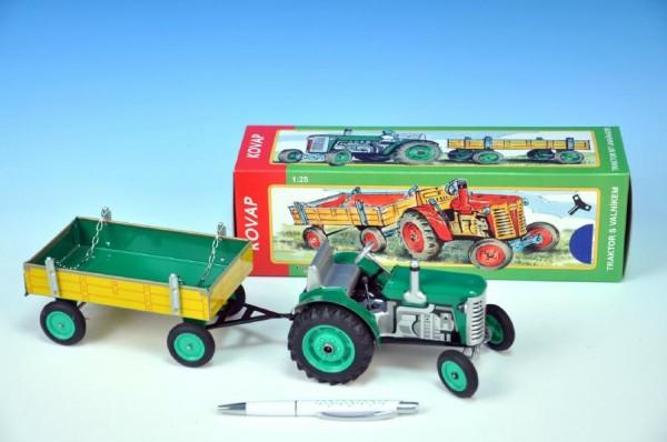 KOVAP Traktor Zetor 1:25 zelený na klíček