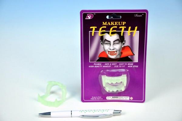 Karnevalová maska - Zuby upíří svítící