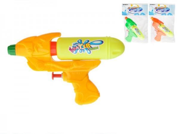 Vodní pistole plast 16cm asst 3 barvy v sáčku
