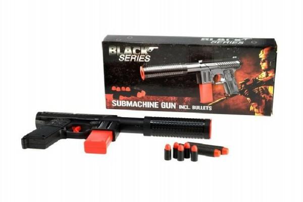 Pistole na pěnové náboje plast 30cm v krabici
