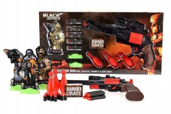 Fotografie Pistole s pěnovými náboji Black Series 35cm