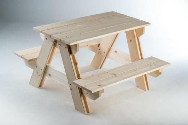 Souprava dřevěná dětská stolek + lavice