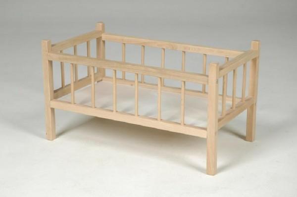 Postýlka pro panenky dřevěná 54 cm
