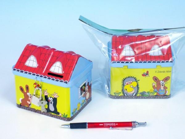 Pokladnička plechová - Krtečkův domek