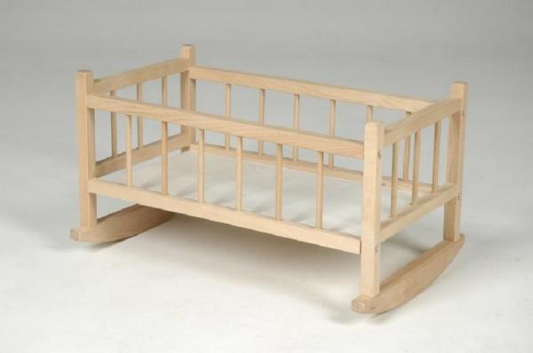 Kolébka pro panenky dřevěná 49cm