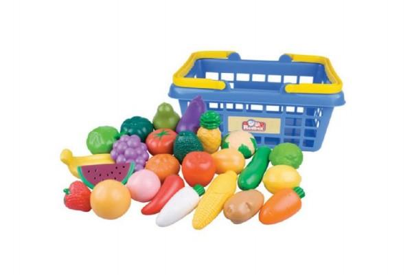 Nákupní košík s ovocem a zeleninou 25ks