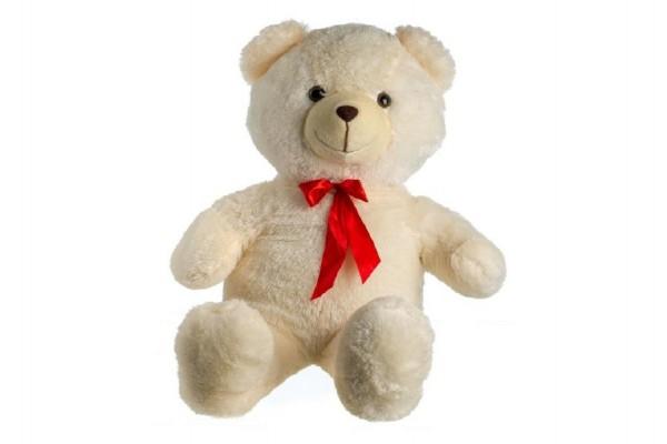 Medvěd plyšový béžový 100 cm