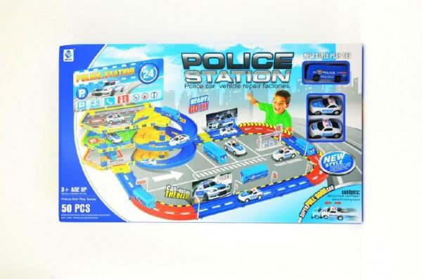 Dráha plastová sada 50ks policejní stanice