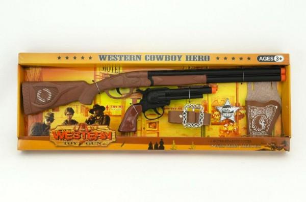 Kovbojská sada puška a kolt 5ks