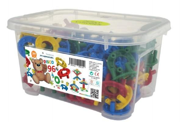 Fotografie Stavebnice Disco 96ks v plastovém boxu
