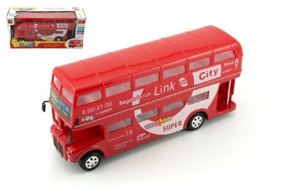 Autobus patrový plast 28 cm na baterie