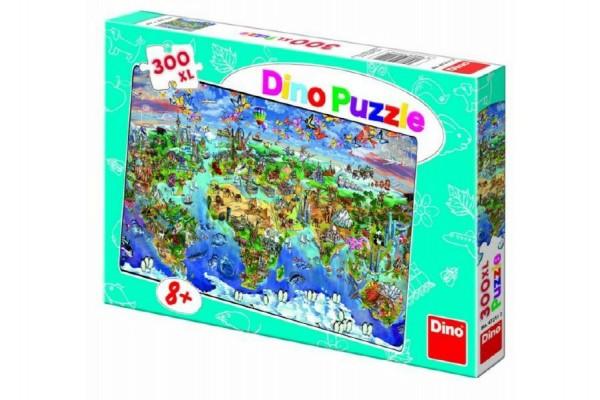Puzzle Mapa světa 300 XL