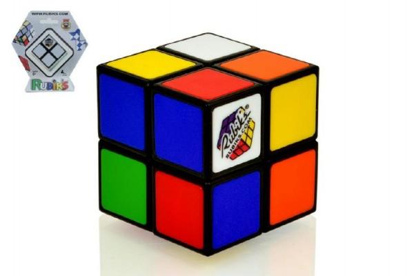 Fotografie Rubikova kostka hlavolam 2x2 plast 4,5x4,5cm na kartě