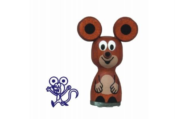 Razítko dřevěné Krteček - Myška 4cm