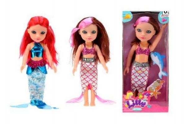 Panenka mořská panna Lilly plast 30cm