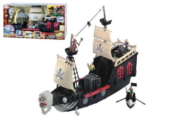 Pirátská loď 60cm na baterie s doplňky