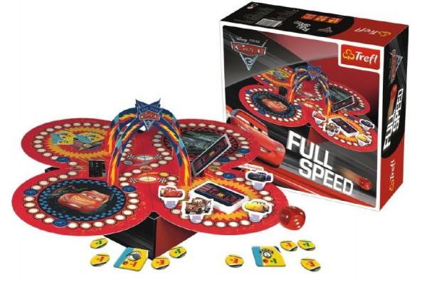 Fotografie Full Speed Auta/Cars 3 společenská hra v krabici 26x26x8cm