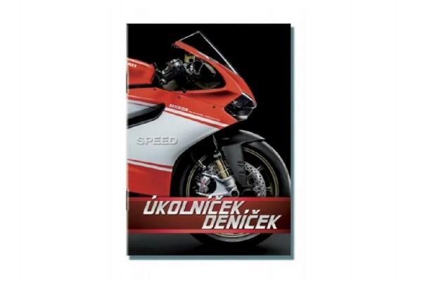 Úkolníček deníček A6 Moto Speed