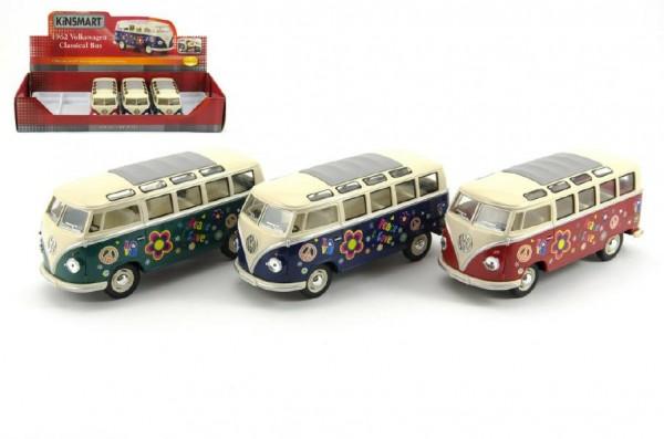 Kinsmart model VW Classical Bus Hippie kov 18cm
