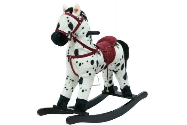 Houpací kůň 56 cm strakáč se zvukem