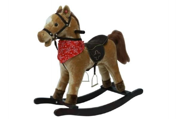Houpací kůň 56 cm hnědý se zvukem