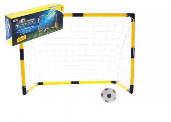 Branka fotbalová 84x54x42cm s míčkem a pumpičkou