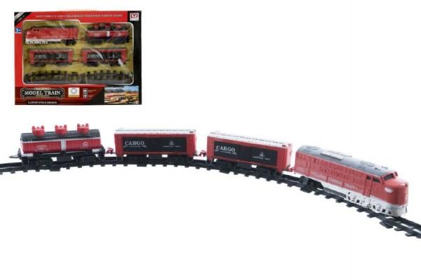 Vláčkodráha lokomotiva 18cm + 3 vagonky