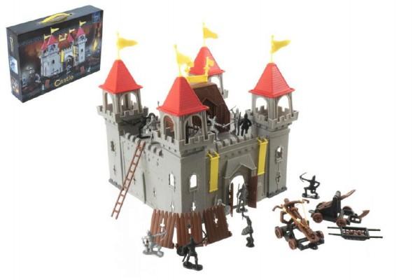 Rytíři figurky sada s hradem 28x28xx33 cm