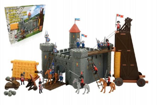 Rytíři figurky sada s hradem 115 ks
