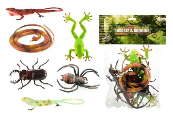 Hmyz a hadi plastová sada 6 kusů