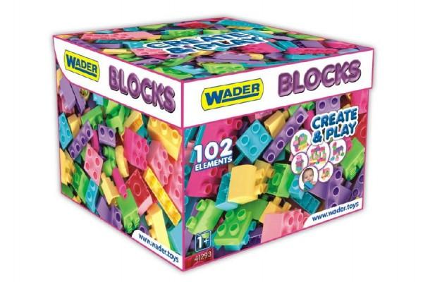 Wader kostky - stavebnice pro holky plast 102ks