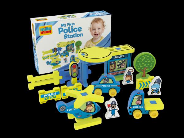 Millaminis Moje první policejní stanice pěna 25ks