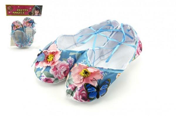 Balerínky/boty pro dívky látkové 9cm