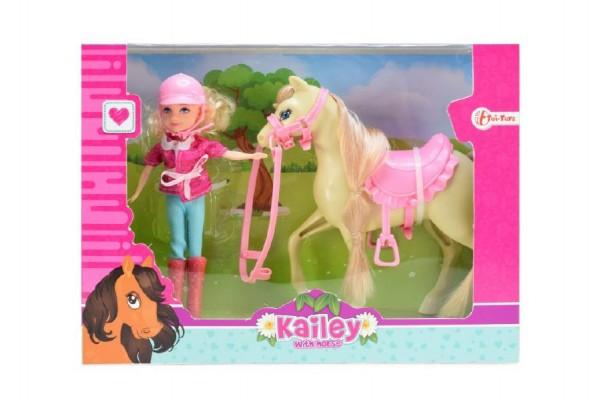 Panenka Kailey žokejka s koníkem