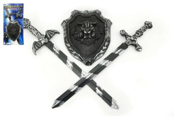 Rytířská sada dětská 2 meče a štít 56cm