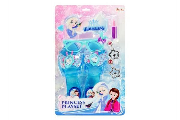 Střevíčky princezny s brýlemi a doplňky plast