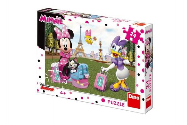 Puzzle Minnie v Paříži 24 ks