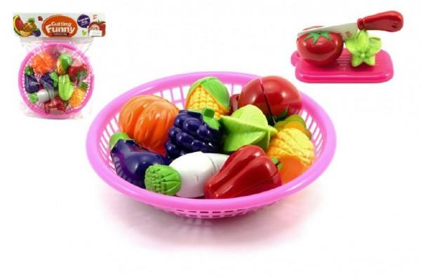Potraviny krájecí ovoce a zelenina v košíku 22cm