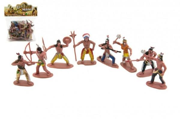 Indiáni - figurky 6 cm s mapou
