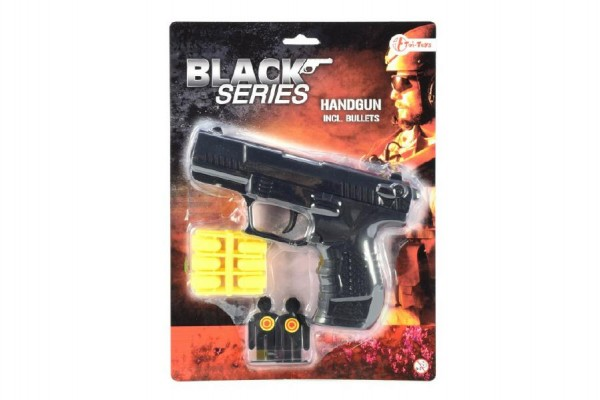 Pistole špuntovka 15 cm na plastové náboje s terči