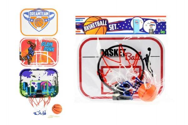 Basketbalový mini koš plastový s míčkem 29 cm
