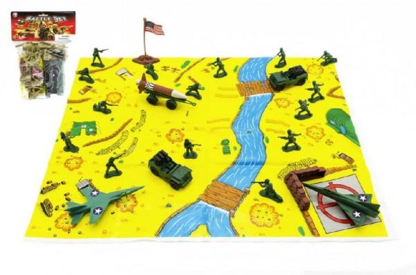 Vojáci - figurky plast sada s mapou
