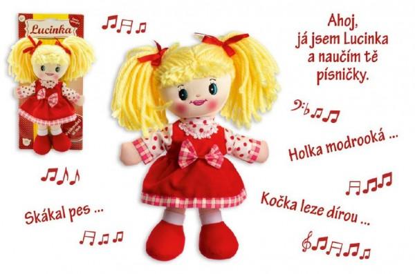 Hadrová panenka Lucinka 30 cm mluvící a zpívající